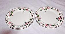 2 VILLEROY & BOCH PALERMO BREAD & BUTTER PLATES PINK MORNING GLORY PORCELAIN