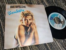 "KIM WILDE CAMBODIA/WATHING FOR SHAPES 7"" 1982 RAK SPAIN"