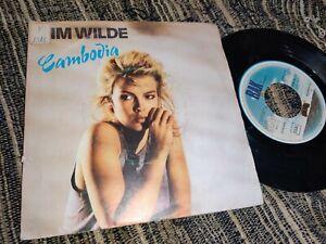 "KIM WILDE CAMBODIA/WATHING FOR SHAPES 7"" 1982 RAK SPAIN"