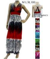 Lot NEW Multi color Halter Casual Cocktail Maxi Long Sun Summer DRESS S M L XL