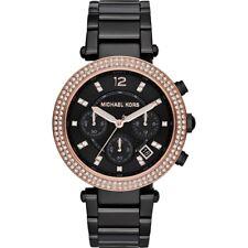 Michael Kors Parker MK5885 Ladies Watch Black Stainless Steel Chronograph