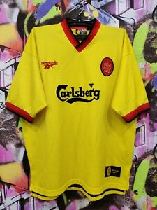 Liverpool 1997 1998 Away Football Shirt Soccer Jersey Vintage Old Mens Sz 46/48""