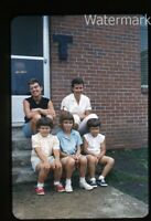 1962 35mm Photo slide  Ladies and Girls on porch