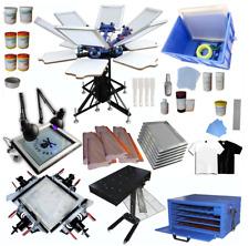 Full Set 6 6 Color Silk Screen Printing Press 6 Station Starter Printing Kit Us