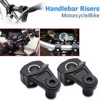 Pair Universal 7/8'' 22mm Motorcycle HandleBar Handle Fat Bar Mount Clamps Riser