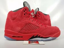 Nike Air Jordan V 5 Retro TAKE FLIGHT SUIT UNIVERSITY RED SUEDE 136027-602 sz 9