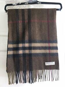 Brown Plaid burberry cashmere scarf