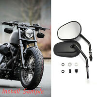 Motorcycle Black Mirrors FIT FOR 2007 2008 2009 2010 2012 Softail HarleyDavidson