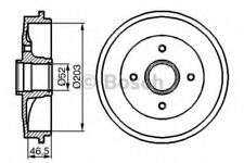 Bosch Rear Brake Drums, without Classic Car Part