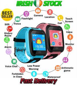 Kids Smart Watch GPS GSM Touch Screen Tracker SOS Camera Flashlight Childrens