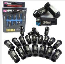 BLACK 20 Pieces D1SPEC Light Weight Billet Racing Wheel Lug Nut Nuts M12x1.5