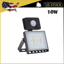1 x10W PIR Motion Sensor LED Flood Light Outdoor Wall Security Warm White Lamp