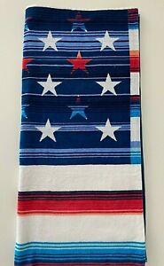 NWT Tommy Bahama Beach Towel Blue Super Soft 36 x 68 Cotton OEKO-TEX Stripes