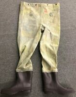 Vintage Red Ball Insulated Real Tree Camo Camouflage Swamp Fish Hunt Wader L XL