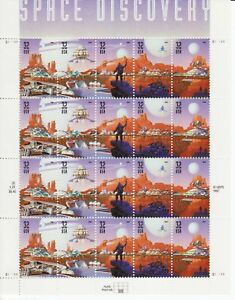 SPACE DISCOVERY STAMP SHEET - USA #3238-#3242 32 CENT 1998