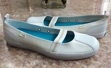 New NIKE Mary Jane Women's White Cream Slip-On Flats Shoes Size 10 #317971-121