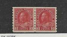 Canada, Spedizione Francobollo, #130 Paio come Nuovo Nh , 1924, Jfz