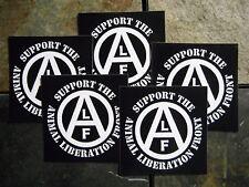 "Lot of 5 4x4"" Animal Liberation Front ALF Vinyl Rights Sticker Vegetarian Vegan"