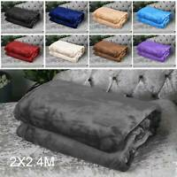 2X2.4M King Size Warm Soft Faux Fur Fleece Throw Mink Large Sofa Bed Blanket