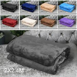 Mink Throw Blanket Soft Faux Fur Fleece Warm Large Sofa Bed Single to King Sizes
