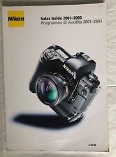 Nikon Sales Guide 2001-2003, Softback Book. English/Italian