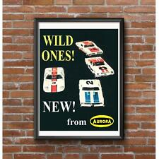 Aurora HO Scale Wild Ones Slot Car Racing Poster
