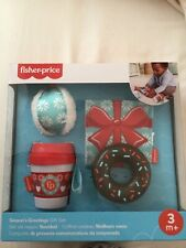 Fisher-Price Season's Greetings Gift Set: Crinkle Jingle Snowball Teetheable Cup