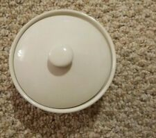 Longaberger Woven Traditions Ivory Small Covered Dish Made in Usa