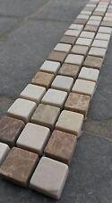 Bruchstein Mosaik Bordüre 5x30 cm Naturstein Fliesen Emperador Crema Marfil B521