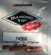 5 Bernard™ 7496D 1,0 mm Elliptique Extrémité Torche Soudure EZ Lien Q - canons™