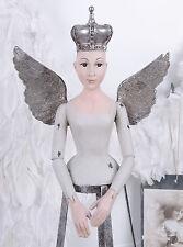 Bambola BUSTO DI DONNA ALI CORONA FIGURA ANGELO busto SHABBY CHIC