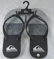 QUIKSILVER Men's UK 10 EU 44 US 10.5 Flip Flop Sandal Thong Black Grey NEW NWoT