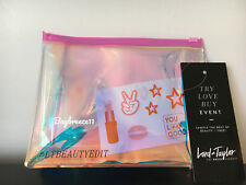 "NWT Lord & Taylor Iridescent Makeup Cosmetic Travel Bag Pouch - 8""L x 6""W"