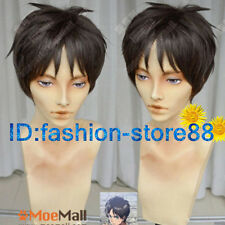 Attack on Titan Eren Jager Short Brown Cosplay Party Wig NEW Ver