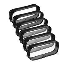 Estuche de LáPices de Pulma de PVC Transparente de 6 Piezas con Cremallera, S6S2