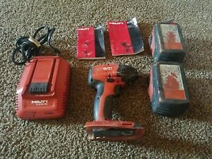 HILTI 4pc 22v Combo Sid 18-a impact driver drill 2 batteries, battery charger