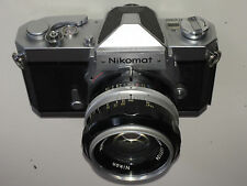 Nikon NIKOMAT  FTN Chrome + Nikkor-S 50mm F1.4 AI Lens  Set  ** MINT- Serviced**