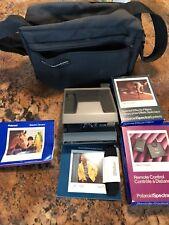 Vintage Polariod Spectra Camera Bundle Remote Control Bag Filters