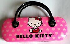 Hello Kitty Sunglasses Eyeglass Hard Case Pink with Hearts Handles Purse
