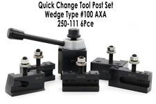 "QUICK CHANGE TOOL POST SET WEDGE TYPE 250-111 AXA 6 PCE 6-12"" SWING"