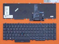 DE - Tastatur Keyboard Ohne Rahmen mit Beleuchtung komp. für Dell Latitude E5550