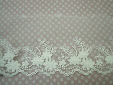 Vintage Style Embroidery Tulle Lace Trim 10cm Ivory Wedding dress Gorgeous 1Yard