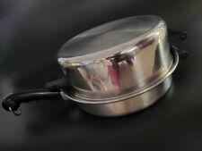 "Saladmaster Stainless 11"" Family Everyday Skillet Stir Fry Saute Sauce Pan w Do"
