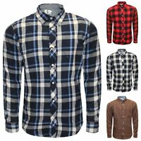 Mens Ex Store Branded Lumberjack Check Shirt Cotton Long Sleeve Work Soft New