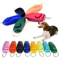 1Pc Pet Dog Puppy Click Clicker Training Obedience Trainer Aid With Wrist Strap