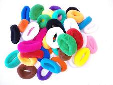 Pack 50 gomas del pelo multicolores anchas trenzas accesorio peinado coleteros