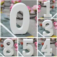 3D Decorative  Wooden Digital Numbers Wall Stickers Free Standing DIY Sticker
