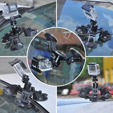 Triple Ventouse Fixations pour Gopro Hero 3+ /4/ 5 Go Pro Caméra Kit Attaché
