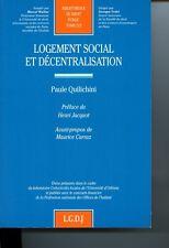 Logement social et décentralisation