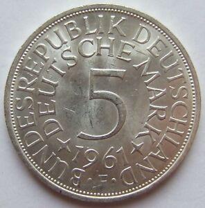 5 DM 1961 F in Vorzüglich / Stempelglanz !!!